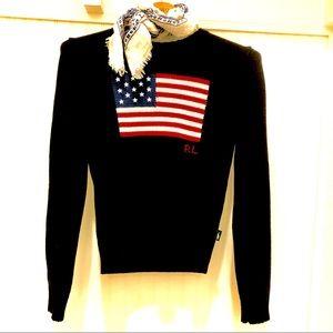 POLO Ralph Lauren Navy Flag Sweater SzXS